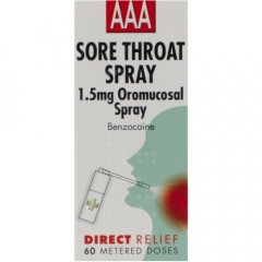 AAA Sore Throat Spray 60 Dose