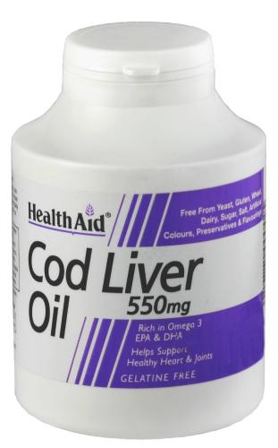 HealthAid Cod Liver Oil 550mg Capsules Pack of 250