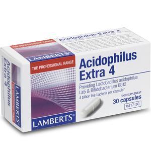 Lamberts Acidophilus Extra 4 Capsules Pack of 30