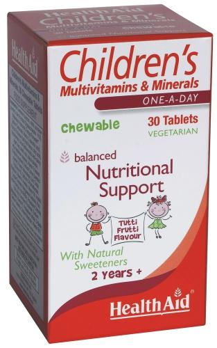 Healthaid Childrens Multivitamin & Mineral Chewable Tabs Pack of 30