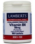Lamberts Vitamin B6 (pyridoxine) Tablets 50mg Pack of 100