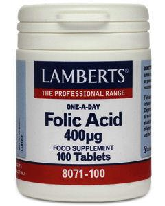 Lamberts Folic Acid Tablets 400mg Pack of 100
