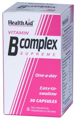 HealthAid Vitamin B Complex Supreme Capsules Pack of 30