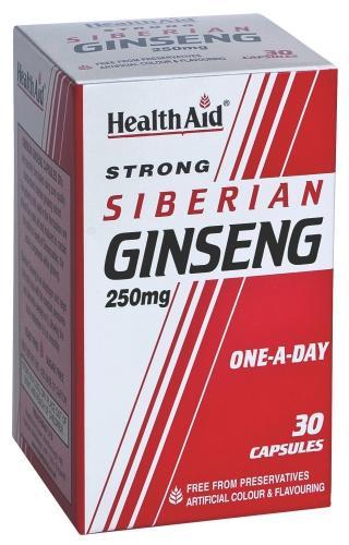 HealthAid Siberian Ginseng 250mg Capsules Pack of 30