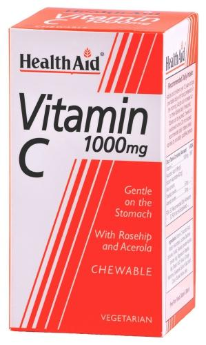 HealthAid Vitamin C 1000mg Chewable Tablets Pack of 60