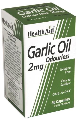 HealthAid Odourless Garlic Oil 2mg Capsules Pack of 30