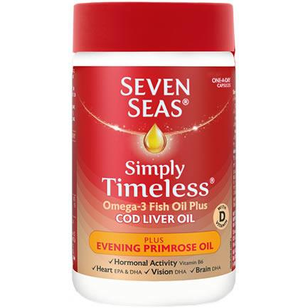Seven Seas Cod liver Oil & Evening Primrose Oil Capsules Pack of 30
