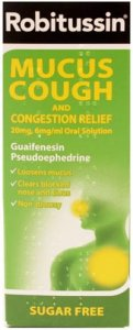 Robitussin Mucus Cough With Congestion Relief 100ml