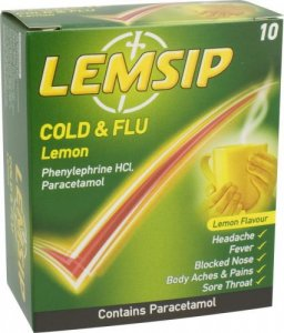 Lemsip Cold & Flu Lemon Pack of 10