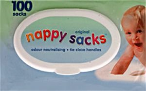 Nappy Sacks Bags  Pack of 100