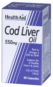 HealthAid Cod Liver Oil 550mg Capsules Pack of 90