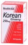 HealthAid Korean Ginseng 250mg Capsules Pack of 50