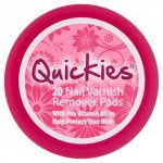 Quickies Nail Varnish Remover Pack of 20