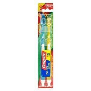 Colgate Twister Fresh Medium Toothbrush Pack of 2