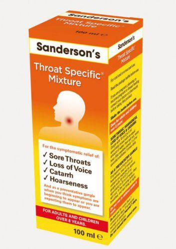 Sanderson's Throat Specific Mixture 100ml