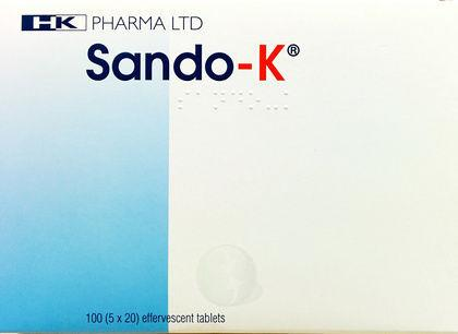 Sando-K Effervescent Tablets Pack of 100