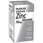 HealthAid Zinc Gluconate 70mg Tablets Pack of 90