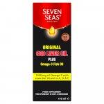 Seven Seas Cod Liver Oil Plus Omega-3 Fish Oil Liquid 170ml