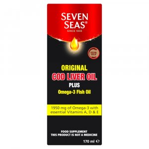 Seven Seas Cod Liver Oil Plus Omega-3 Fish Oil Liquid 170ml