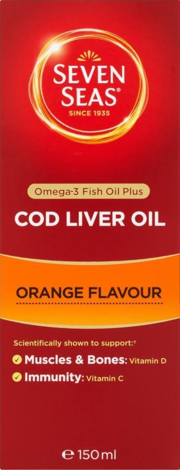 Seven Seas Cod Liver Oil Orange Syrup 150ml