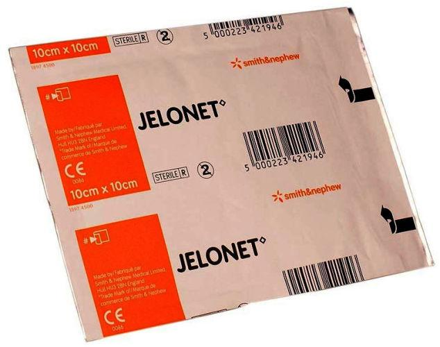 Jelonet Paraffin Gauze Dressing Normal Loading  10cm x 10cm