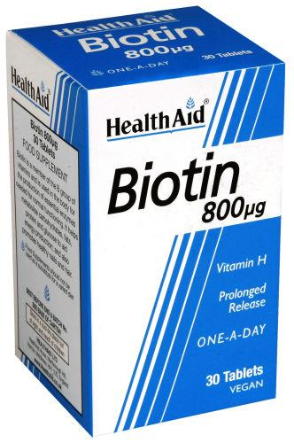 HealthAid Biotin 800mcg Tablets Pack of 30