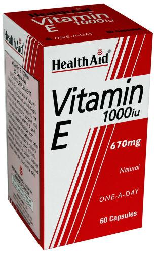 HealthAid Vitamin E 1000iu Capsules Pack of 60