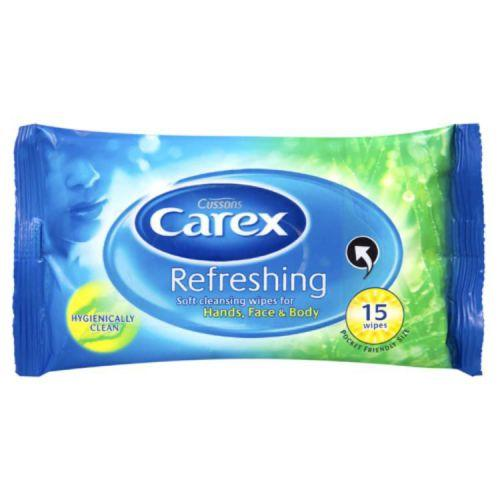 Carex Refreshing Wipes Pack of 15