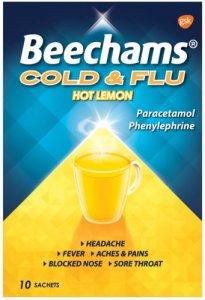 Beechams Cold & Flu Hot Lemon Pack of 10