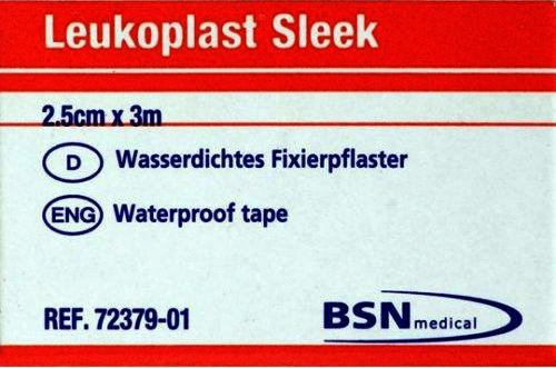 Leukoplast Sleek Waterproof Tape  2.5cm x 3m