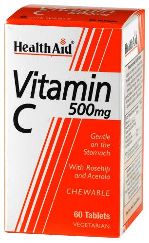 HealthAid Vitamin C 500mg Chewable Tablets Pack of 60