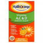 Haliborange Vitamins A C & D Pack of 60 x 3