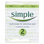 Simple Pure Bath Soap 125g Pack of 2