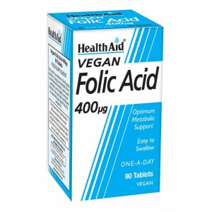 HealthAid Folic Acid 400mcg Tablets Pack of 90