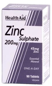 HealthAid Zinc Sulphate 200mg Tablets Pack of 90