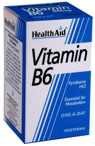 HealthAid Vitamin B6 100mg Tablets Pack of 90