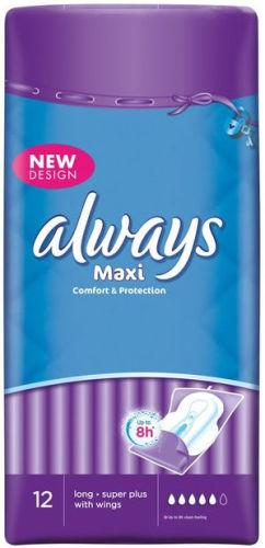 Always Maxi Long with Wings Pack of 12