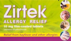 Zirtek Allergy Relief Tablets Pack of 30