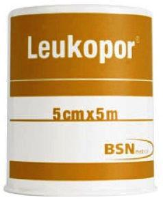 Leukoplast Leukopor Non-woven Surgical  Tape  5cm x 5m
