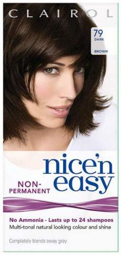 Clairol Nice n Easy Non Ammonia 24 Wash Dark Brown 79