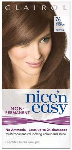 Clairol Nice n Easy Non Ammonia 24 Wash Light Golden Brown 76