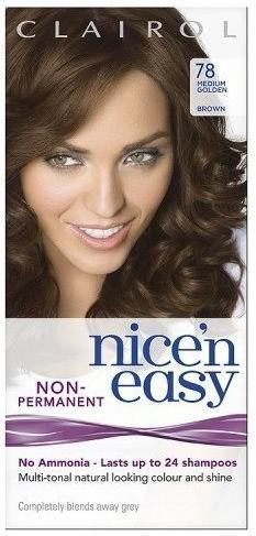 Clairol Nice n Easy No Ammonia 24 Wash Medium Golden Brown 78
