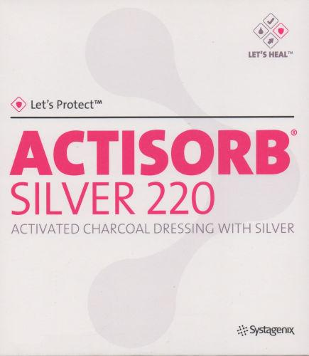 Actisorb Silver Activated Charcoal Dressing 10.5cm x 10.5cm