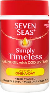Seven Seas Simply Timeless Marine Oil with CLO Capsules Pack of 30