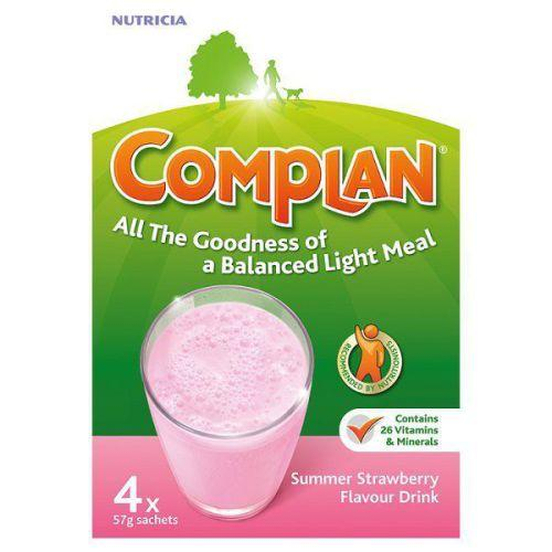Complan Sachets Strawberry 55g Pack of 4