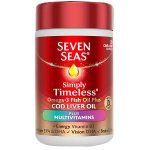 Seven Seas Simply Timeless Omega-3 & CLO + Multivits Caps Pack of 30