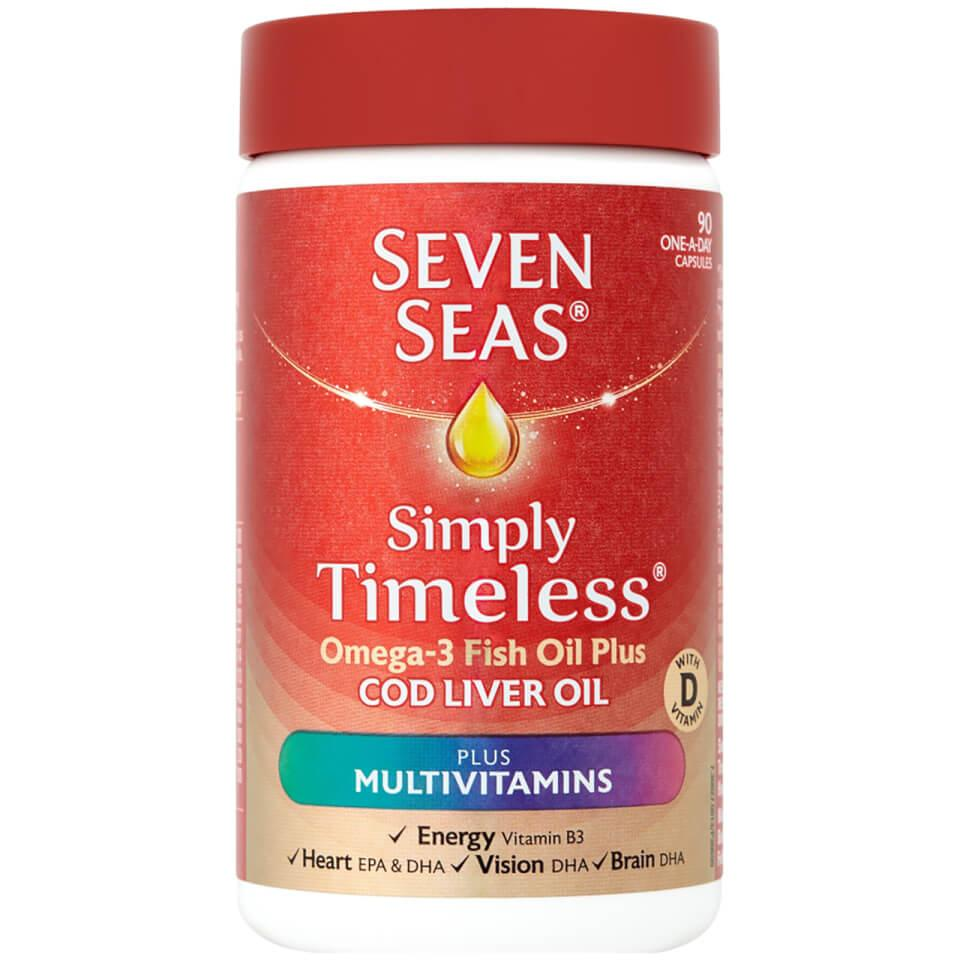 Seven Seas Simply Timeless Omega 3 Fish Oil with CLO + Multivits Pack of 90