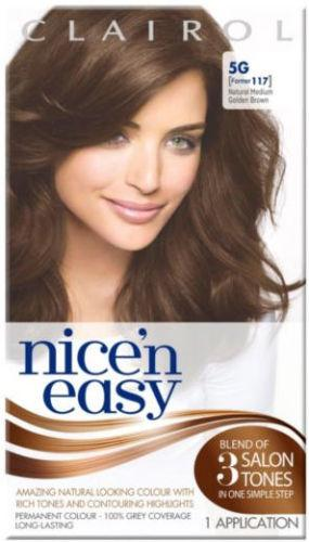 Clairol Nice n Easy Natural Medium Golden Brown 5G (formerly 117)