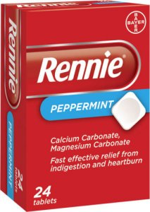 Rennie Peppermint Tablets Pack of 24