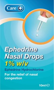 Care Ephedrine Nasal Drops 1% 10ml